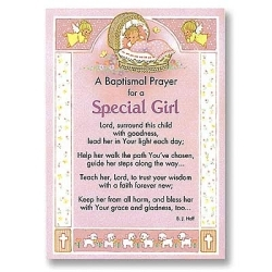 Baptism Cards for a Special Girl