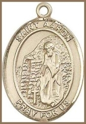 St Aaron Medal - 14K Gold Filled - Medium
