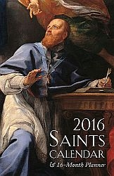 Saints Calendar and Daily Planner for 2016