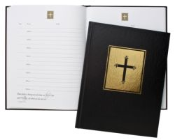 Guest Book - Black with Psalms