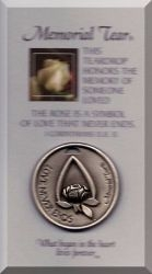 Memorial Tear Pewter Pocket Token