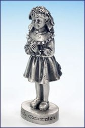 First Communion Pewter Figurine