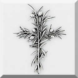 Olive Branch Pewter Wall Cross