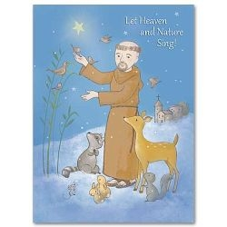 St Francis Christmas Card with Scripture