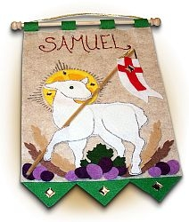 First Communion Banner Kit - Lamb of God - Green