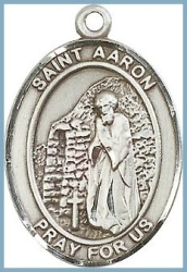 St Aaron Medal - Sterling Silver - Medium