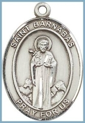 St Barnabas Medal - Sterling Silver - Medium