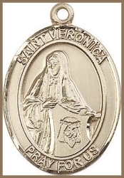 St Veronica Medal - 14K Gold Filled - Medium