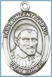St Vincent de Paul Medal - Sterling Silver - Medium