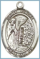 St Fiacre Medal - Sterling Silver - Medium