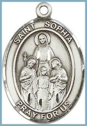 St Sophia Medal - Sterling Silver - Medium