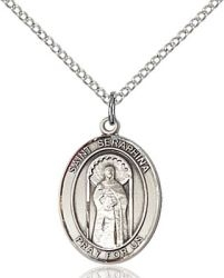 St Seraphina Medal - Sterling Silver - Medium