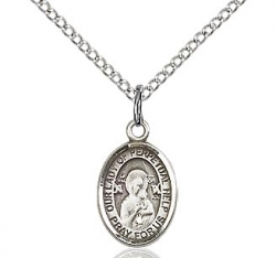 Our Lady of Perpetual Help Medal - Sterling Silver - Small