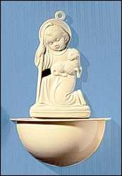 Christ with Lamb Holy Water Font