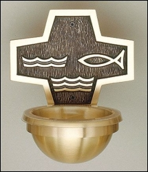 Bronze Holy Water Font