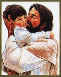 Jesus with Child Picture - Frances Hook