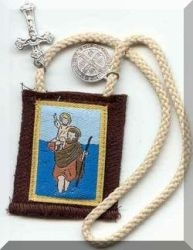 St Christopher Cord Scapular