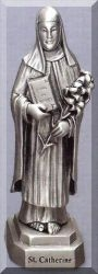 St Catherine Pewter Statue