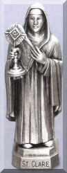 St Clare Pewter Statue