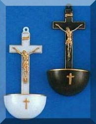 Crucifix Holy Water Font