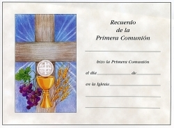Spanish First Communion Certificates - Certificados