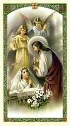 Spanish First Communion Holy Card for Girl