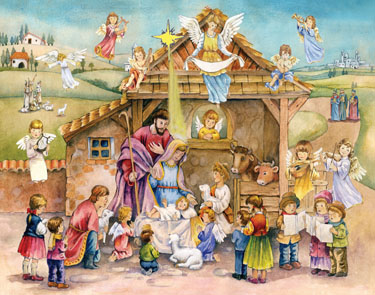 Advent Calendar - with Bible Verses - Joy to the World - Advent