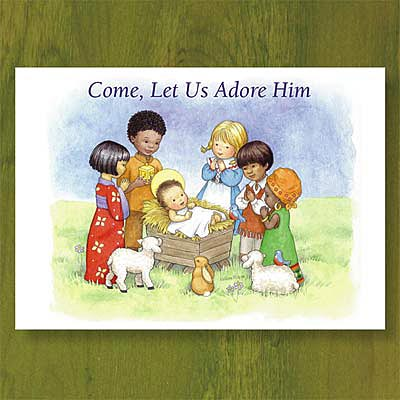 children of the world christmas card abbey press - Religious Christmas Cards