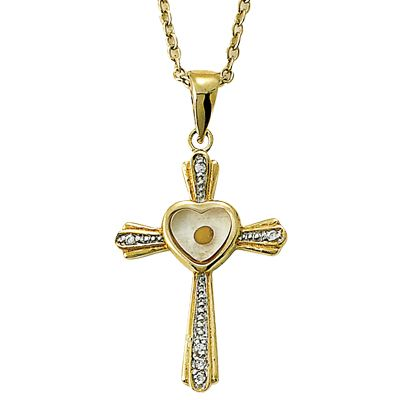Mustard seed cross pendant mustard seed necklace mustard seed mustard seed cross pendant 24k gold over sterling aloadofball Image collections