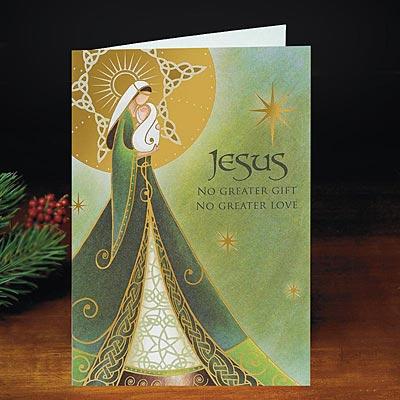 Irish Christmas Card - Irish Madonna Card - Abbey Press ...