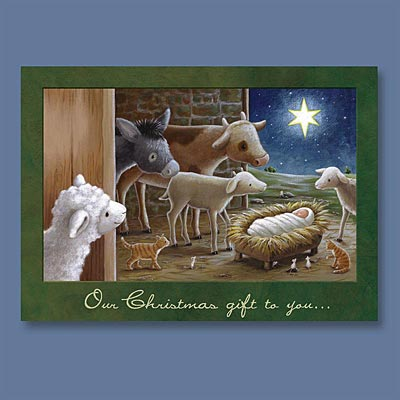 Animals at Manger - Christmas Card - Abbey Press - Christian ...