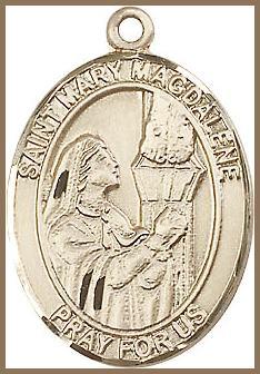 18c5d073cd8 St Mary Magdalene Medal - Saint Medals - St Mary Magdalene - Gold ...