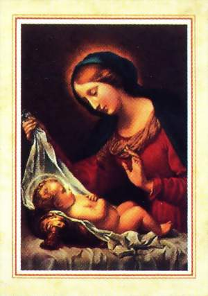 Religious Christmas Card - Mary with Jesus - Christmas Cards - Christmas