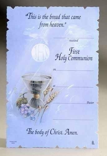 First Communion Certificates - First Communion - First Communion ...