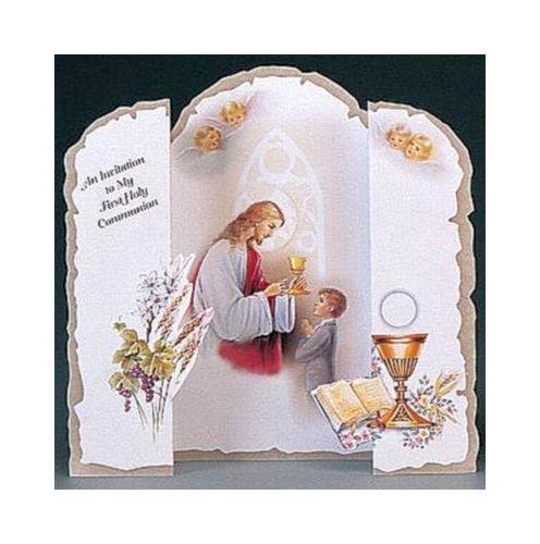 First Communion Invitations for Boys Communion Invitations