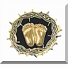 Precious Feet Pin - Crown of Thorns - Gold Finish