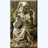 Angel with Kitten Figurine - Outdoor Garden Statue