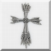 Wheat Pewter Wall Cross