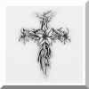 Lilies Pewter Wall Cross