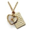 Mustard Seed Heart Pendant with Gold Parable Plate