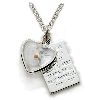 Mustard Seed Heart Pendant with Silver Parable Plate