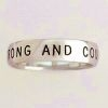 Men's Christian Ring Sterling Silver - Be Strong and Courageous
