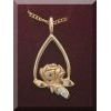 Memorial Tear 14K Gold Pendant with Diamond