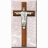 Christ the King Walnut Cross - 12 inches