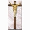 Large Risen Christ Cross - Dark Oak - 34 inches