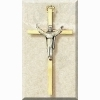 Risen Christ Small Gold Cross - 4.25 inches