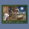 Christmas Card - Animals at Manger - Abbey Press