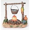 Lighted Campfire with Pot - Fontanini 5 inch collection - LED