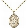 St Aedan Medal - 14K Gold Filled - Medium