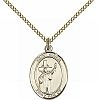 St Aidan Medal - 14K Gold Filled - Medium